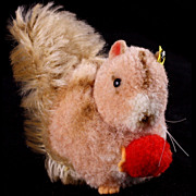 Rare '50s/60s Steiff Wool Miniature Squirrel Mohair Tail ID - Red Tag Sale Item