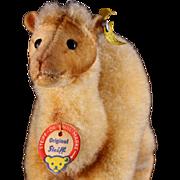 Tiny '50s/'60s Steiff Wool Plush & Velveteen Camel Dromedary All ID - Red Tag Sale Item