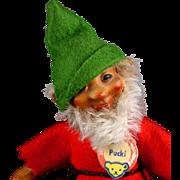 Rare Tiny Early Steiff Rubber Doll Figure Pucki Dwarf All ID