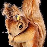 Rare '50-'56 Only Tiny Steiff Velveteen & Mohair Begging Squirrel ID