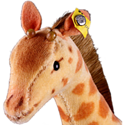 Sweet Tiny Steiff Velveteen Baby Giraffe ID - Red Tag Sale Item