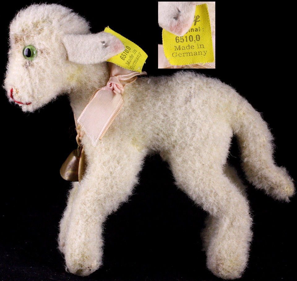 tiniest earliest steiff wool plush baby lamby lamb all id from rosalie steiff on ruby lane. Black Bedroom Furniture Sets. Home Design Ideas