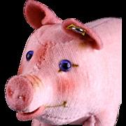 Rare Tiniest Sister Steiff Velveteen Chubby Baby Jolanthe Pig ID