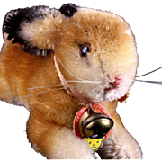 '50s/'60s Tiny Baby Brother Steiff Mohair Bunny Rabbit Hase (Pre-Hoppy) 2 IDs