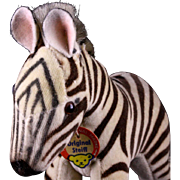 Rare Baby Brother Steiff Velveteen Covered '50s/'60s Zebra Colt ID - Red Tag Sale Item