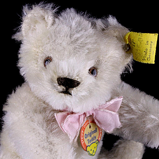 Rare Little Sister Steiff WHITE 5xJointed Original Teddy Bear ALL ID