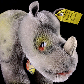 Tiny Baby Brother Steiff Nosy Rhinoceros Nashorn All ID