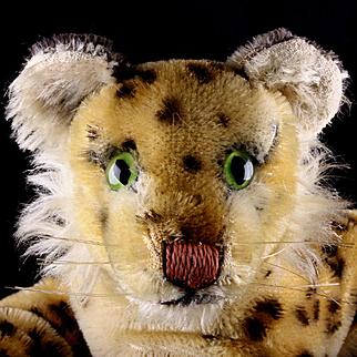 Sweet Early Little Brother Steiff Reclining Leopard Wild Cat