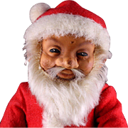 Next to Smallest Early Steiff Rubber Santa Claus Doll