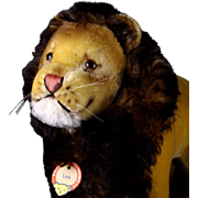Rare Majestic but Sweet Largest Size Steiff Standing Leo Lion Wild Cat ID 1964 Only