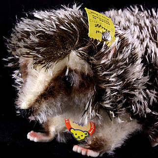 Rare Steiff 1960s Walking Joggi Hedgehog With Spiky Punk Haircut ALL ID One Size Only