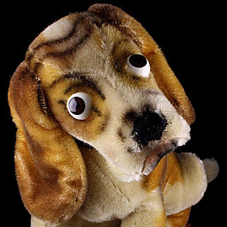 RARE RARE RARE Big Brother Steiff Basset Hound Dog Puppy 2 IDs Number Not Catalogued