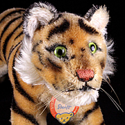 Rare Biggest Brother Steiff Stalking Tiger Cub Wild Cat ID