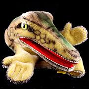 Earliest Model 1950s Steiff Gaty Crocodile Puppet All ID Near Mint Maybe a Bit Scary