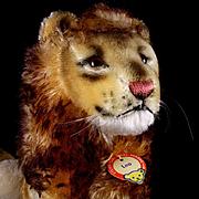 Rare Majestic Big Brother Steiff Seated Leo Lion Wild Cat ID