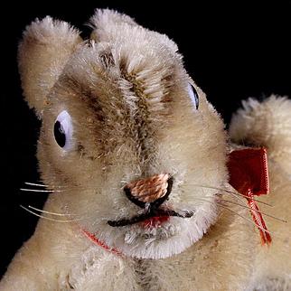 Rare Early Tiny Brother Steiff Lying Bunny Rabbit Lieg Hase 2 IDs