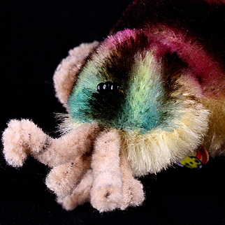EEEK a Spider! a Rare one from Steiff: Colorful Mohair Little Sister Spidy Spinne ID Two Years Only!