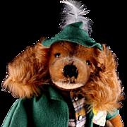 Steiff Waldili Dachshund Hunter Dog Doll Figure w Rifle All ID Near Mint Three Years Only w These IDs
