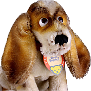 RARE Steiff Hush Puppies® Advertising Article Big Brother Basset Hound Dog Puppy All ID '70-'72 Only