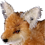 Rare Steiff Baby Xorry Standing Red Fox ID