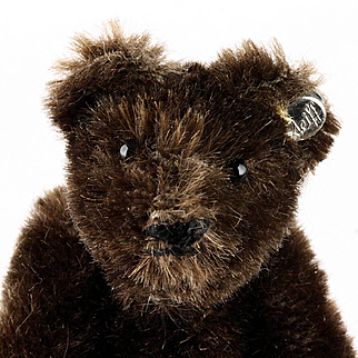 Rare Tiniest Brother Steiff (Dark!) Brown 5xJointed Original Teddy Bear ID