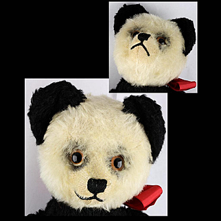 32 cm 6xJointed Schuco Yes-No Panda Teddy Bear