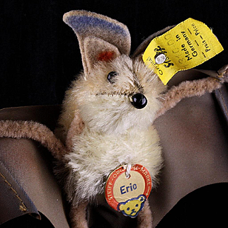 Creepy but Cute Rare Little Brother Steiff Eric Bat All ID '60-'62 Only