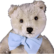 Rare Sweet WHITE Steiff 5xJointed Original Teddy Bear ID