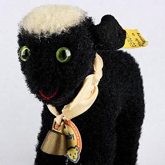 Tiny Sister Steiff Rare BLACK Lamby Lamb All ID 1954-1956 ONLY