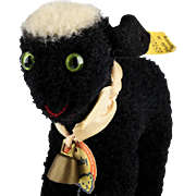 Tiny Sister Steiff Rare BLACK Lamby Lamb All ID 1954-1956 ONLY
