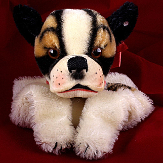 Rare Gorgeous Steiff Bully Bulldog Hand Puppet ID Near Mint