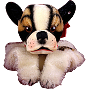Rare Gorgeous Steiff Bully Bulldog Hand Puppet ID Near Mint