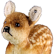 Rare Early Post WWII Steiff Wool Plush Baby Deer Fawn Jungreh ID