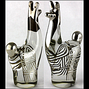 Smooth Sensual Glass Silver Overlay Llama Neat Optical Effects