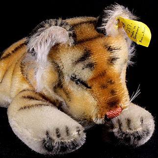 Little Brother Rare Steiff Sleeping Floppy Tiger 1956-1958 All ID