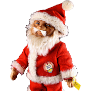 Rare Early Model Rubber 1950s Steiff Santa Claus Doll All ID
