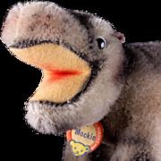 Rare Tiny Chubby Baby Steiff Mockie Hippopotamus ID Not made after 1964