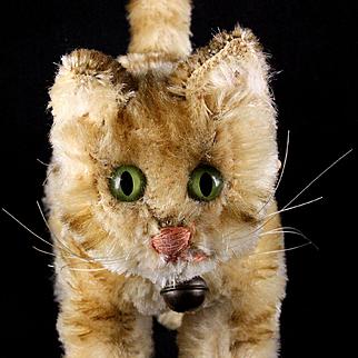 Rare Steiff Tapsy Kitten Cat Next to Largest Size