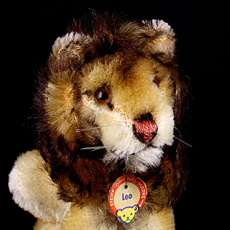 Tiny Steiff Seated Leo Lion Wild Cat ID