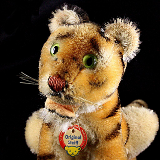 Little Brother Rare Seated Steiff Bengal Tiger Wild Cat ID '59-'61 Only