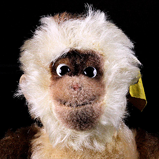 Rare Goofy but Adorable Little Brother Steiff Gibbon Ape 2 IDs Talks!