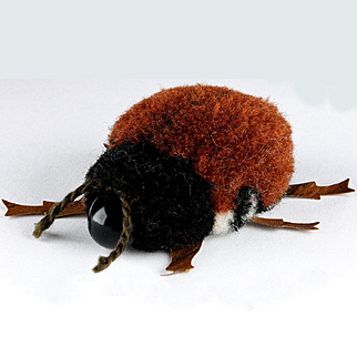 Rare Steiff Wool Miniature PomPom Cockroach !!!