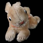 '50s/'60s Tiny Steiff Lieg Hase Lying Rabbit Bunny 2 IDs Glass Eyes