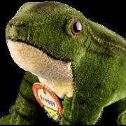 Little Brother Steiff Velveteen Seated Froggy Frog 2 IDs