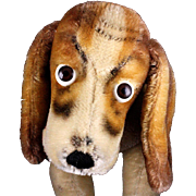 Rare Big Brother Steiff Seated Basset Hound 1961 and 1962 Only!