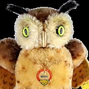 Next to Smallest Sister Steiff Wittie Owl Bird All ID Magic Eyes!