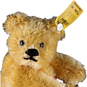 Tiny Baby Steiff Gold 5x-Jointed Original Teddy Bear Earliest Post WWII Production All ID