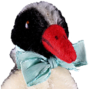 Tiny Sister Rare Steiff Early Post WWII Model Peggy Penguin Bird Velvet Wings ID