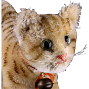 Rare Steiff Little Sister Tapsy Brown Tabby Striped Kitten Cat ID