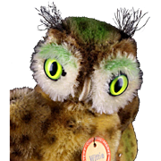 Tiny Sister Steiff Wittie Owl Bird All ID AMAZING COLORS